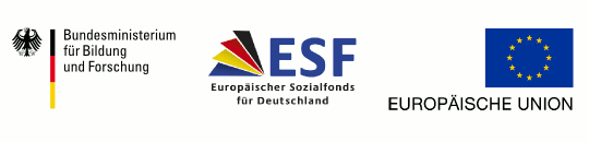Supported by the Federal Ministry of Education and Research, the European social fond for Germany and the european union.